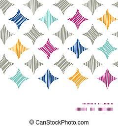 azulejos, colorido, patrón, marco, seamless, vector, plano ...