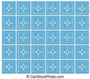 azulejos de cerámica, seamless, mexicano