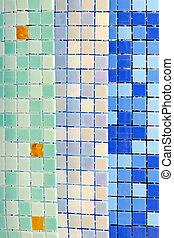 azulejos, piscina, natación