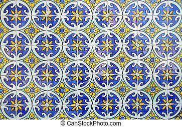 azulejos, portugues, típico
