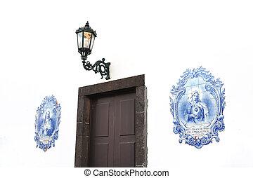 Azulejos - Portuguese glazed tiles, Canico, Madeira, Portugal