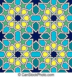 azulejos, resumen, seamless, patrón, diseño, vector,...