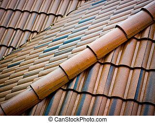 azulejos telhando, cerâmico