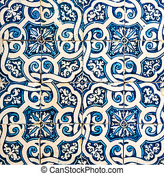 azulejos, traditionele , portugees, tegels
