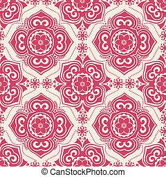 azulejos, vector, -, seamless, arabesco