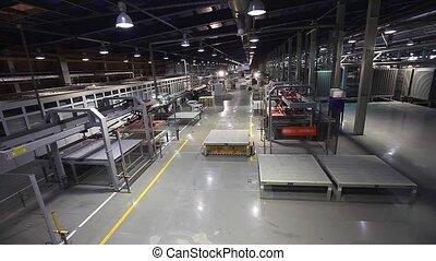 azulejos, vehículos, productos, guiado, cerámico, plataforma, planta, producción, eléctrico, automatizado, línea, agv, fabricación, transportes, cerámica