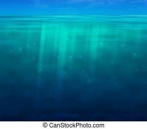 azur, bleu, eaux, fond