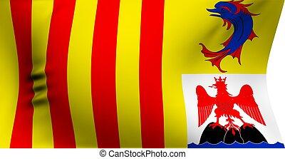 azur, provence-alpes-cote, drapeau