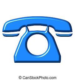 azur, téléphone, 3d