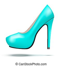 Azure bright modern high heels pump woman shoes