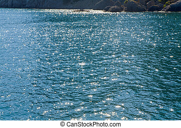 Azure sea water surface