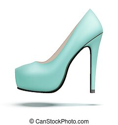 Azure vintage high heels pump shoes