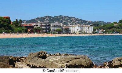 azure water beach - postcard views of the resort coast in...