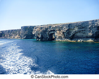 Azure Window, famous stone arch of Gozo island