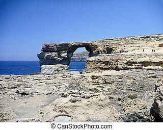 Azure Window, famous stone arch of Gozo island