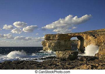 Azure Window, Gozo, Malta - Travel attraction on Gozo Island...