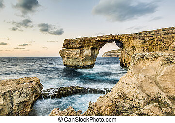 Azure Window in Gozo Island, Malta. - Azure Window natural...