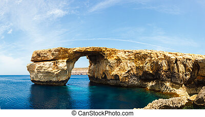 Azure Window, stone arch of Gozo, Malta