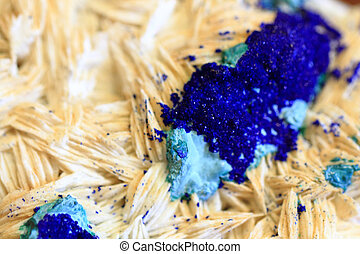azurite gem - azurite mineral as a part of natural...