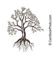 azzurramento, albero