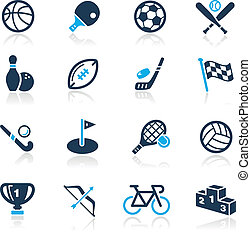 //, azzurro, sport, serie, icone