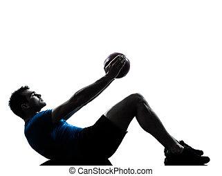 bábu gyakorlás, tréning, birtok, alkalmasság labda, testtartás