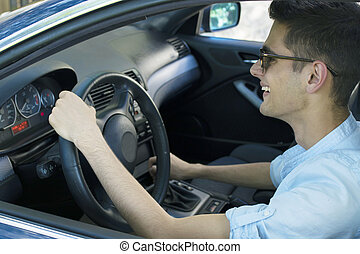 bábu kocsikázás, autó