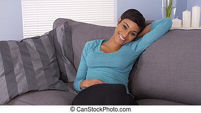 bájos, black woman, mosolygós, fényképezőgép