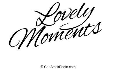 bájos, calligraphic, alfa, cím, moments., csatorna