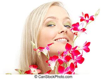 bájos, szőke, noha, orhidea, #2