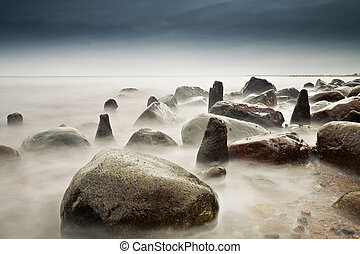 Báltico, costa, mar