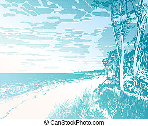 báltico, playa, mar