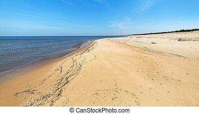 báltico, praia, mar