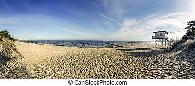 báltico, praia, usedom, mar