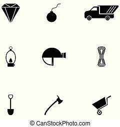bányászás, állhatatos, ikon