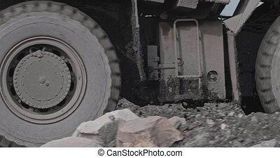 bányászás, driven., nagy, lerak, iparág, mining., munka,...
