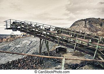 bányászás, terület