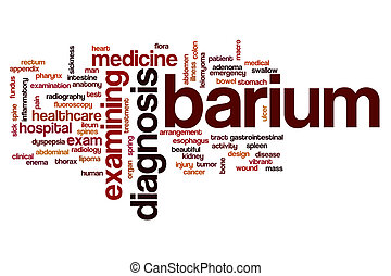 bário, palavra, nuvem