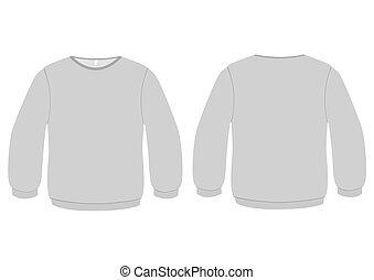 básico, suéter, vector, illustration.