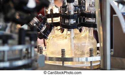 básico, vidro, reator, sistema, para, piloto, plantas