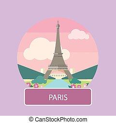 bástya, eiffel, paris., franciaország