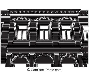 bâtiment, éclectique, maison