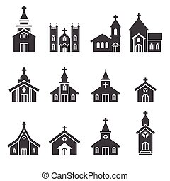 bâtiment, église, icône