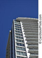 bâtiment, élévation élevée, vue