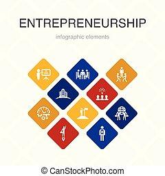 bâtiment, équipe, option, design.investor, entrepreneurship,...