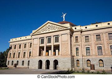 bâtiment, état, arizona, capitole, musée