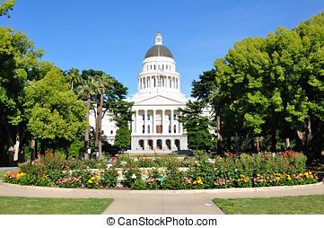 bâtiment, état, californie, capitole