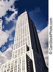 bâtiment état empire, dans, new york