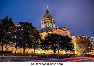 bâtiment, état, géorgie, capitole