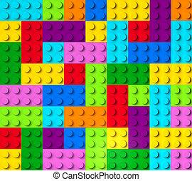 bâtiment, 3d, coloré, blocs, vue dessus